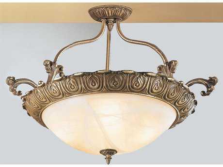 Classic Lighting Corporation Montego Bay Roman Bronze Four-Light Semi-Flush Mount Light C868513RB