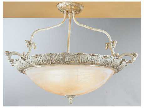 Classic Lighting Corporation Montego Bay Sorrento Gold Four-Light Semi-Flush Mount Light C868513SG