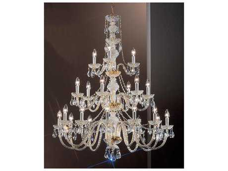 Classic Lighting Corporation Monticello Gold Plated 21-Light 36'' Wide Chandelier C88201GPI