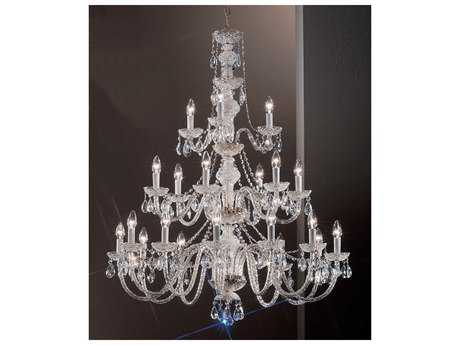 Classic Lighting Corporation Monticello Chrome 21-Light 36'' Wide Chandelier C88231CHI