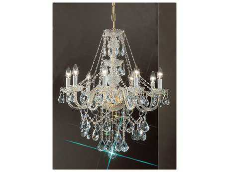 Classic Lighting Corporation Monticello Gold Plated Eight-Light 27 Wide Chandelier