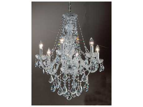Classic Lighting Corporation Monticello Chrome Six-Light 22'' Wide Chandelier C88256CHC