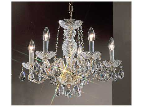 Classic Lighting Corporation Monticello Gold Plated Five-Light 22'' Wide Mini Chandelier C88205GPI