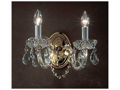 Classic Lighting Corporation Monticello Gold Plated Two-Light Wall Sconce C88242GPC