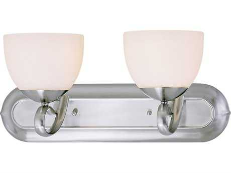 Classic Lighting Corporation Odyssey Brushed Nickel Two-Light Vanity Light C871012BN