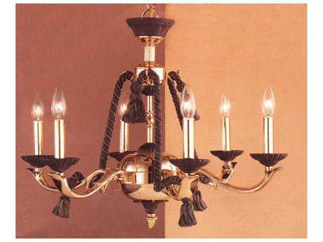 Classic Lighting Corporation Orleans Bronze & Gold Six-Light 25 Wide Chandelier