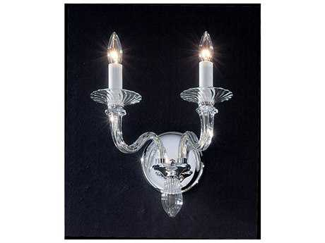 Classic Lighting Corporation Palermo Chrome Two-Light Wall Sconce