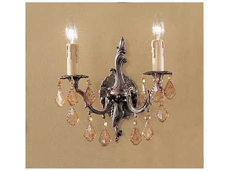 Classic Lighting Corporation Parisian Aged Bronze Two-Light Wall Sconce C85752AGBAI