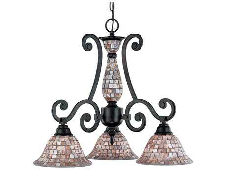 Classic Lighting Corporation Pearl River Oil Rubbed Bronze Three-Light 24 Wide Mini Chandelier C871146ORB