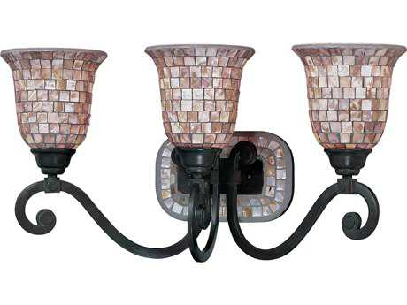 Classic Lighting Corporation Pearl River Oil Rubbed Bronze Three-Light Vanity Light C871143ORB