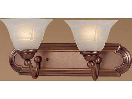 Classic Lighting Corporation Providence Antique Copper Two-Light Vanity Light C869632ACPWAG