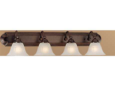 Classic Lighting Corporation Providence Rustic Bronze Four-Light Vanity Light C869634RSBWAG