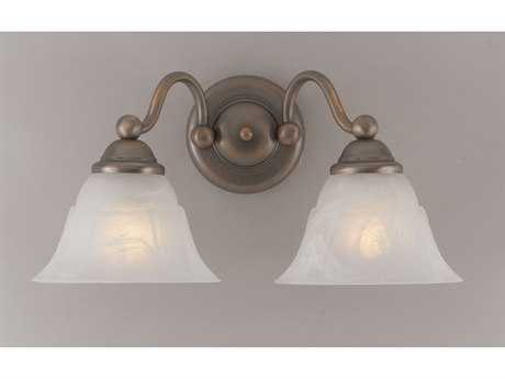 Classic Lighting Corporation Providence Antique Copper Two-Light Wall Sconce C869622ACPWAG
