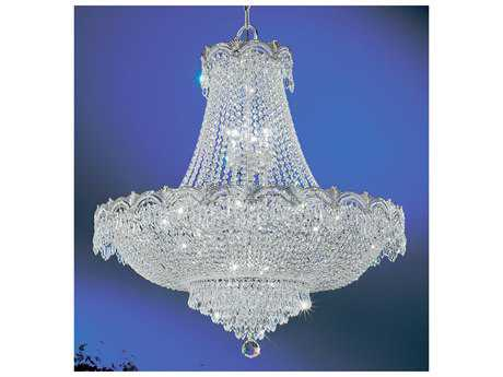 Classic Lighting Corporation Regency II Chrome & Black Patina 11-Light 33'' Wide Grand Chandelier C81858CHBCP