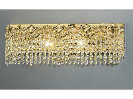 Classic Lighting Corporation Regency II 24k Gold Plate Two-Light Vanity Light C81851GCP