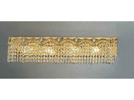 Classic Lighting Corporation Regency II 24k Gold Plate Four-Light Vanity Light C81852GCP