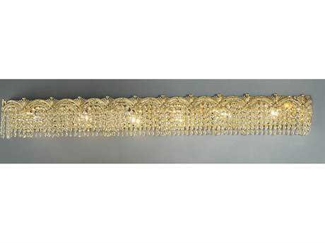 Classic Lighting Corporation Regency II 24k Gold Plate Six-Light Vanity Light C81854GCP