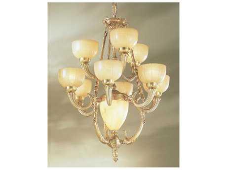 Classic Lighting Corporation Rembrandt Satin Bronze & Sienna Patina 11-Light 26 Wide Chandelier C855099SBS