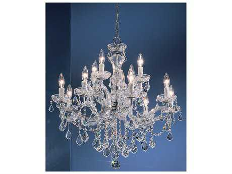 Classic Lighting Corporation Rialto 12-Light 28'' Wide Chandelier C88344CHCP