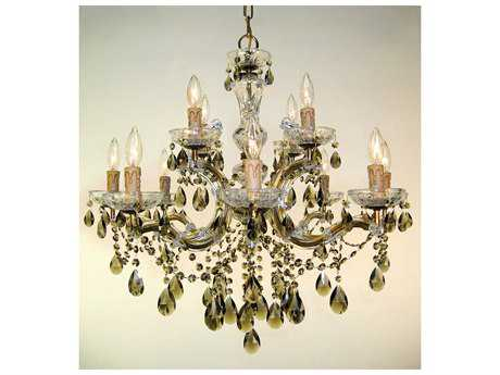 Classic Lighting Corporation Rialto Renovation Brass 12-Light 28'' Wide Chandelier