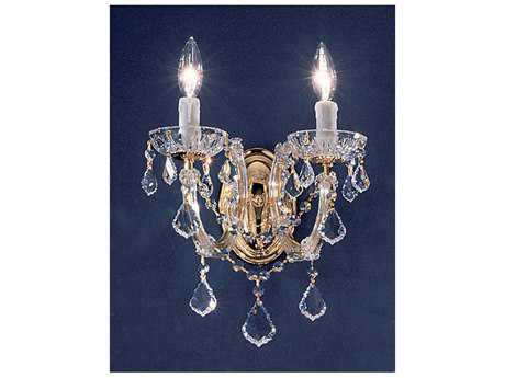 Classic Lighting Corporation Rialto Gold Plated Two-Light Wall Sconce C88342GPCP