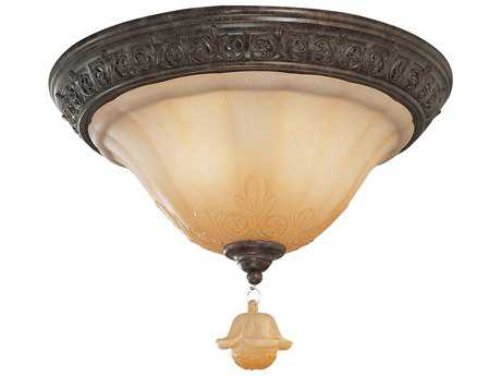Classic Lighting Corporation Riviera Tortoise Shell Two-Light Flush Mount Light C871150TS