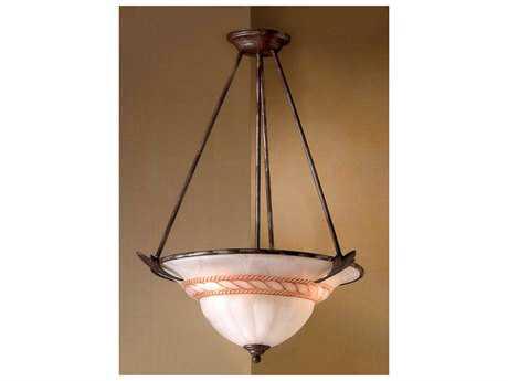 Classic Lighting Corporation Roma Bronze Three-Light Pendant Light C840403BZ