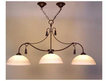 Classic Lighting Corporation Rope and Tassel Bronze Three-Light Island Light C84024BZ