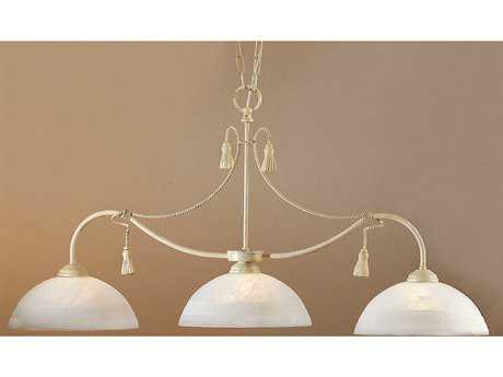 Classic Lighting Corporation Rope and Tassel Ivory Three-Light Island Light C84024I