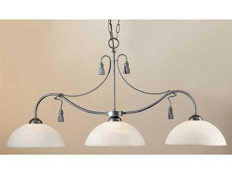 Classic Lighting Corporation Rope and Tassel Pewter Three-Light Island Light C84024PTR
