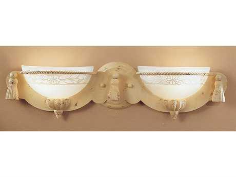 Classic Lighting Corporation Rope and Tassel Ivory Two-Light Vanity Light C84042I