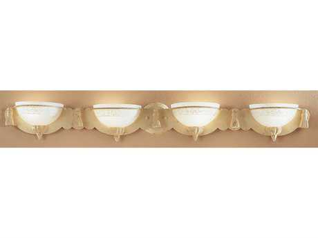 Classic Lighting Corporation Rope and Tassel Ivory Four-Light Vanity Light C84044I