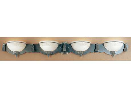 Classic Lighting Corporation Rope and Tassel Pewter Four-Light Vanity Light C84044PTR