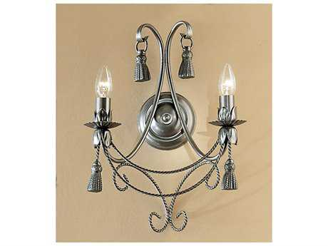 Classic Lighting Corporation Rope and Tassel Pewter Two-Light Wall Sconce