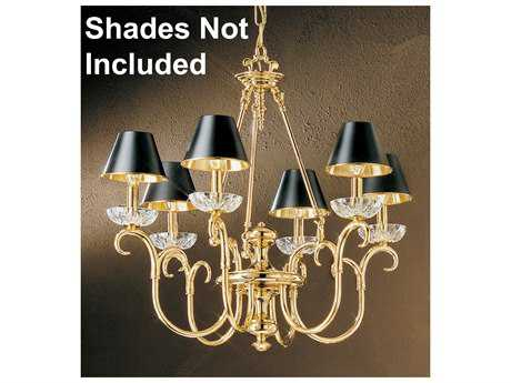Classic Lighting Corporation Salzburg 24k Gold Plate Six-Light 26'' Wide Chandelier C86066