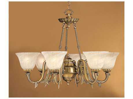 Classic Lighting Corporation St. Moritz Antique Brass Six-Light 32'' Wide Chandelier C868036AB