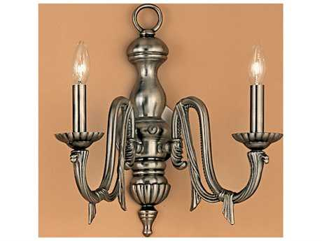 Classic Lighting Corporation St. Moritz Pewter Two-Light Wall Sconce