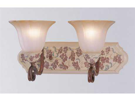 Classic Lighting Corporation Tapestry Honey Walnut Two-Light Vanity Light C871042HW