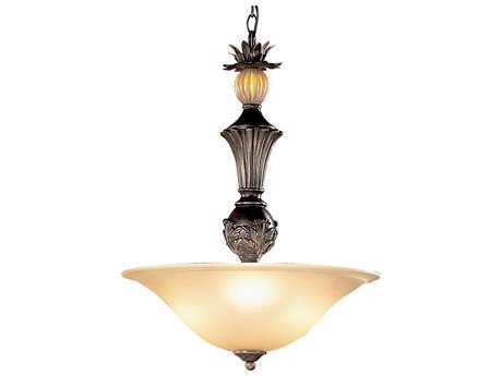 Classic Lighting Corporation Topaz Copper Bronze Three-Light Pendant Light C892303CPB