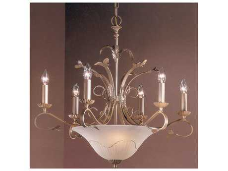 Classic Lighting Corporation Treviso Pearlized Gold Nine-Light 29 Wide Chandelier