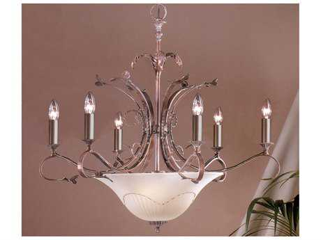 Classic Lighting Corporation Treviso Weathered Clay Nine-Light 29 Wide Chandelier