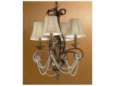 Classic Lighting Corporation Tuscany Tuscany Bronze Four-Light 18'' Wide Chandelier