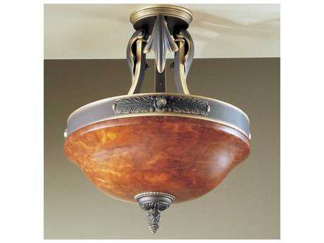 Classic Lighting Corporation Venetian Matte Bronze Two-Light Semi-Flush Mount Light C855103MBZ