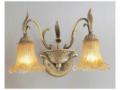 Classic Lighting Corporation Venezia Dark Bronze & Polished Two-Light Wall Sconce C85772DBPDN