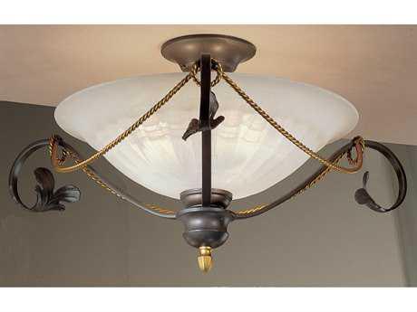 Classic Lighting Corporation Verona Bronze Three-Light Semi-Flush Mount Light C84101BZ