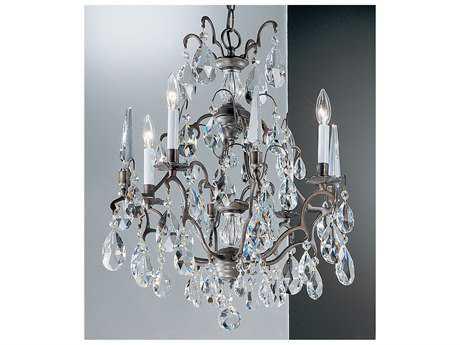 Classic Lighting Corporation Versailles Antique Bronze Four-Light 20'' Wide Chandelier C89004ABC