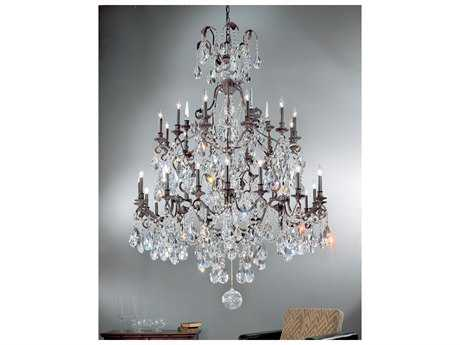Classic Lighting Corporation Versailles Antique Bronze 30-Light 58'' Wide Grand Chandelier C89030ABC
