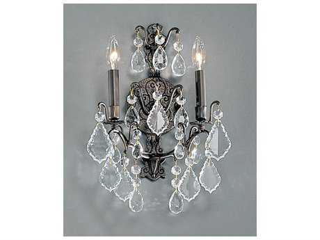 Classic Lighting Corporation Versailles Antique Bronze Two-Light Wall Sconce C88000AB