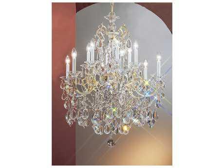 Classic Lighting Corporation Via Venteo Champagne Pearl 12-Light 31 Wide Grand Chandelier C857013CHPC