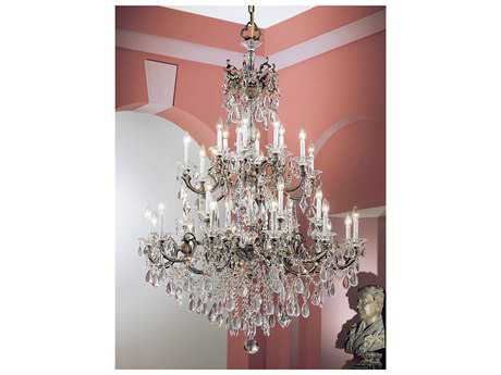 Classic Lighting Corporation Via Venteo Roman Bronze 30-Light 46'' Wide Grand Chandelier C857030RBC